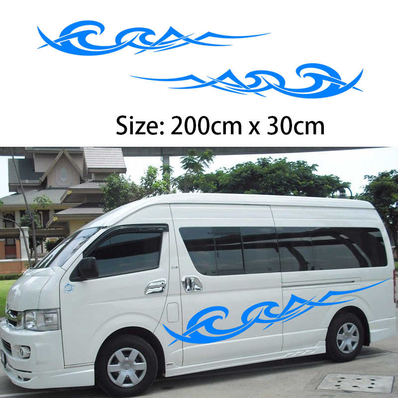 2x 2m Caravan Motorhome Camper Van Vinyl Graphics Stickers Decals Vito Transit (one for each side)