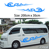 2x 2m Caravan Motorhome Camper Van Vinyl Graphics Stickers Decals Vito Transit One For Each Side