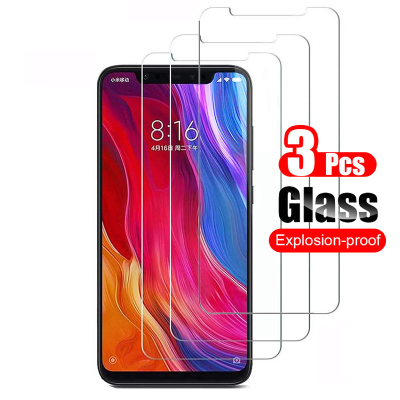 3Pcs Tempered Glass For Xiaomi Mi 8 Mi8 Lite Pro SE Screen Protector Shield For Xiaomi Mi 8 Pro SE Protective Glass Film 9H
