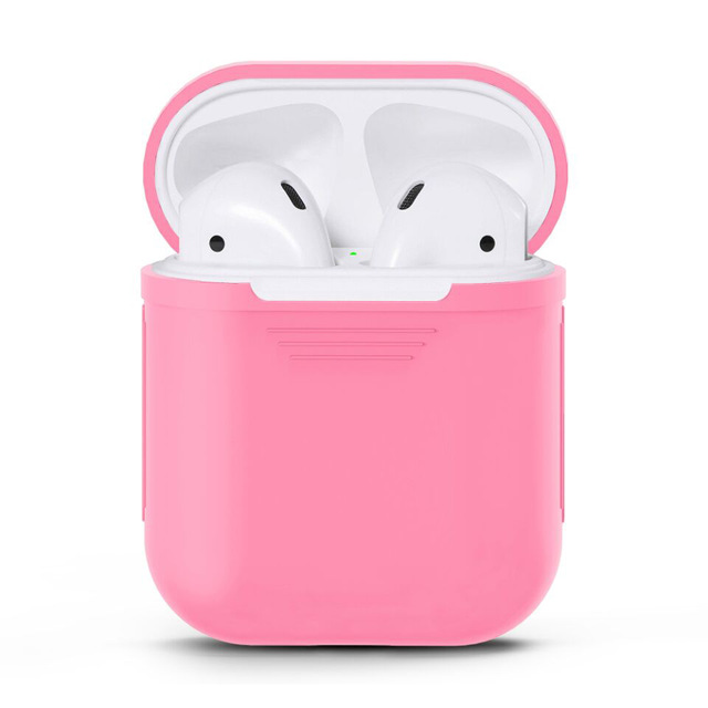promo code 25549 a8097 US $3.99 |1pcs Pink Soft TPU Silicone Case Cover For Apple Airpods Wireless  Headset Bags Boxes For Air Pods Earphone Charging Case-in Earphone ...