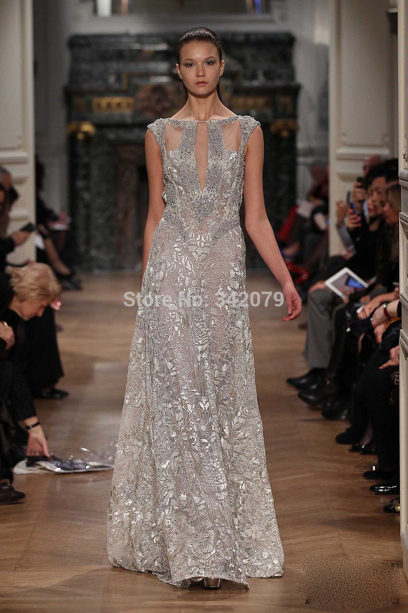 9694b83b3d9a ph07803 See Through Beading Handwork Embroidery Lace Evening Dress tony  ward couture spring summer 2014 stylish eve dresses