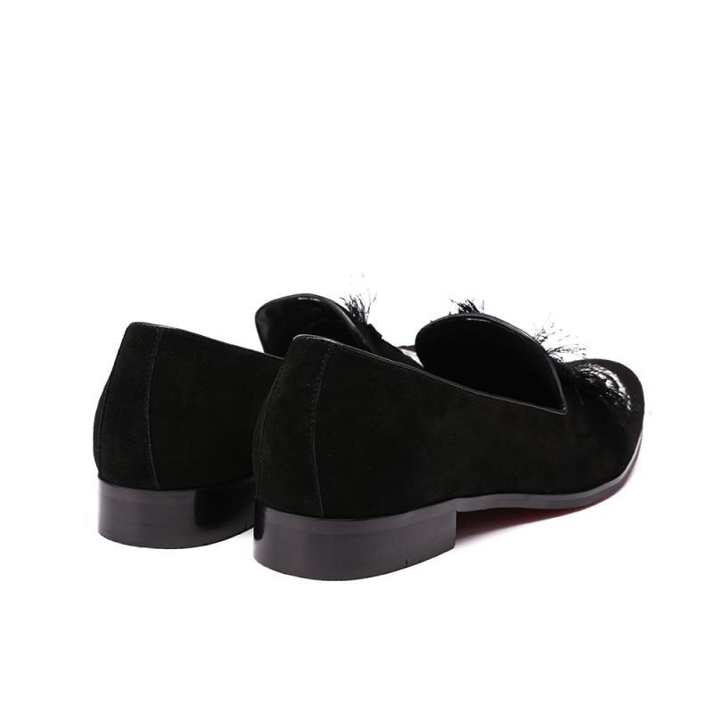 Chaussures Daim Glissent Noir Bout Applique Zebra Conduite Homme Zapatillas Mocassin Hommes En Rond Casual Sur Appartements Tenis Hombre Conception nOw08PkX