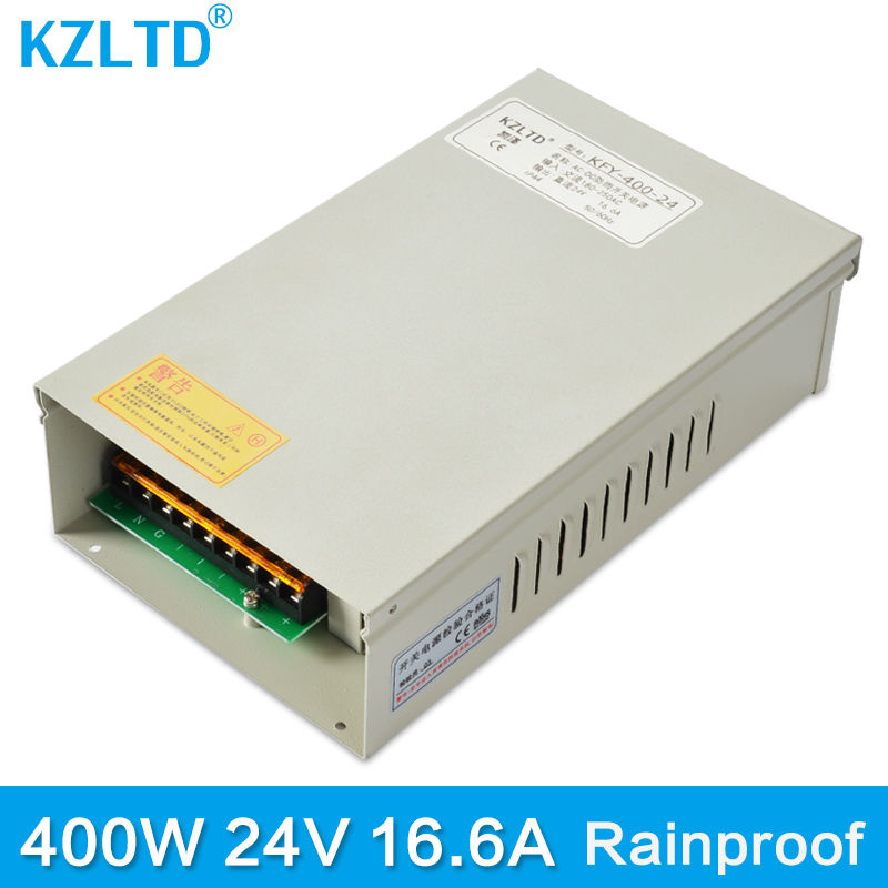 Weatherproof Rainproof Power Supply 24V 400W AC-DC Regulated Switching Power Supply Transformer for LED Strip Light Stage Light led power supply 4a to 6a 24v switching power supply board ac dc power module ac converter 100w regulated transformer