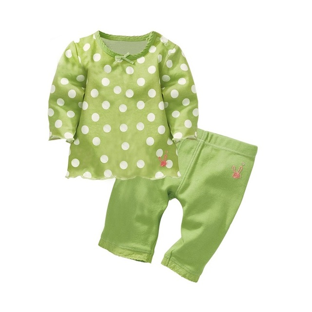 4fe6fddb0 Green Dot Children s Clothes Sets Baby Girls Outfits T shirts ...