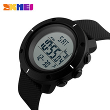 SKMEI Fashion Men Sports Watches LED Electronic Digital Wristwatches Outdoor 50M Waterproof Pedometer Military Watch 1215 все цены
