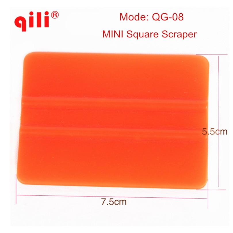 100 pack DHL Free QILI QG 08 Mini Hard Card Squeegee Car Film Tool Window tint
