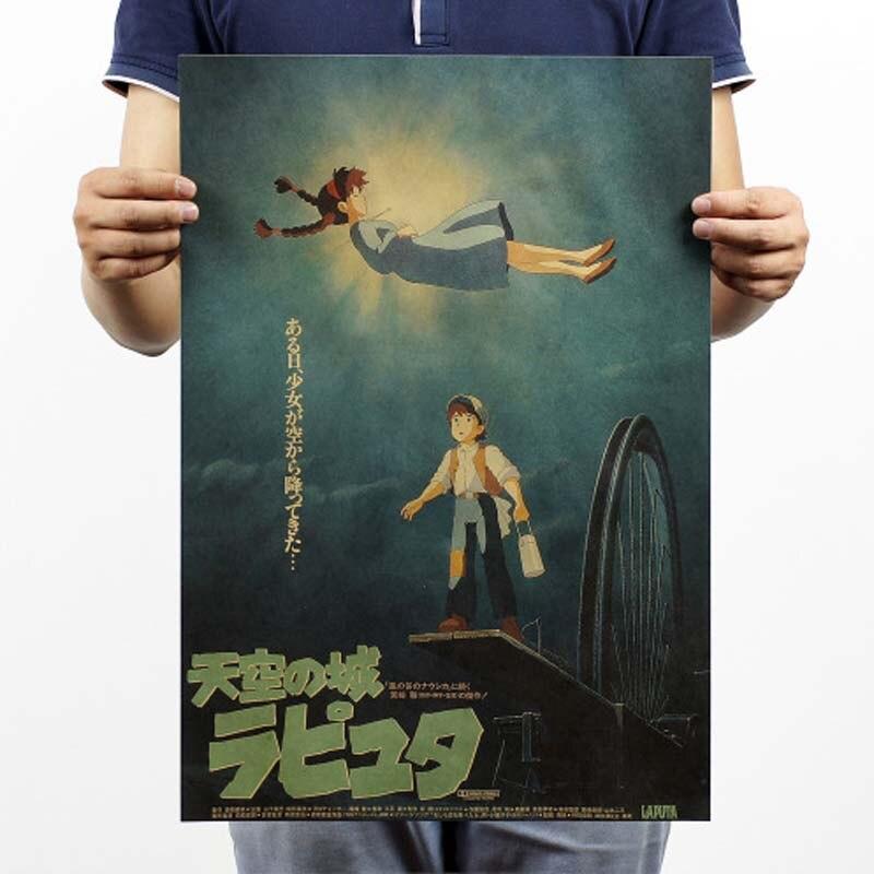 Винтажный постер Фильм Ретро аниме автомобиль плакаты и принты кофе/кухня/гостиная декоративная живопись крафт-бумага наклейки на стену - Цвет: 074