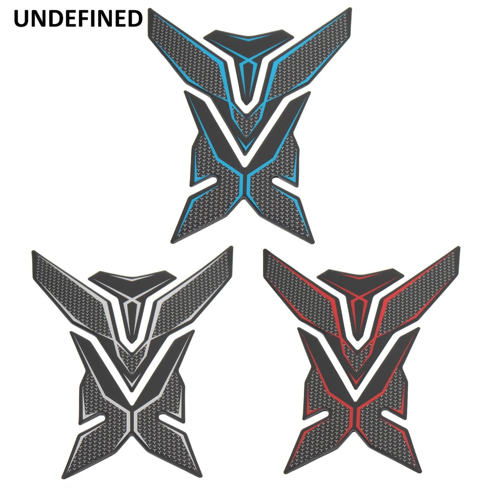 Motorcycle 3D Rubber Gas Tank Pad Fish Bone Decal Sticker For Honda Yamaha Or F2