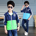 2017 spring and autumn fashion classic children's jacket boy 4-13-year-old inverted triangle stitching Jackets