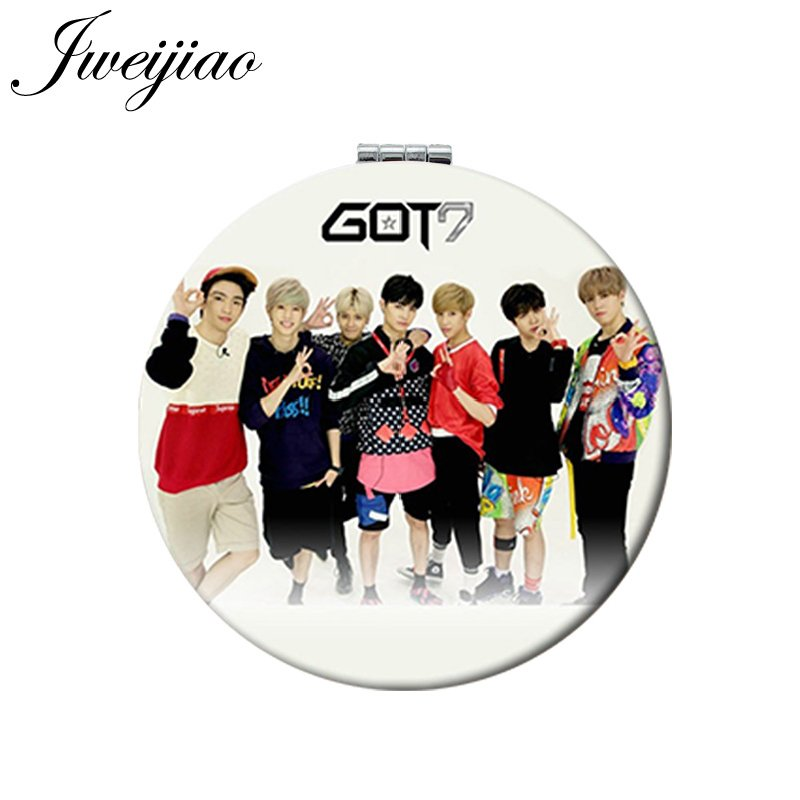 Kpop Got7 Present You Portable Makeup Fold Mirror Bambam Yugyeom Jackson Compact Mirror Jewelry & Accessories