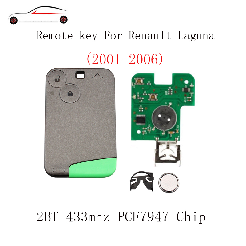GORBIN 2BT 433Mhz PCF7947 chip Smart Remote Key Keyless Fob For Renault Laguna Espace 2001 2002 2003 2004 2005 2006 Original key|Car Key| |  - title=