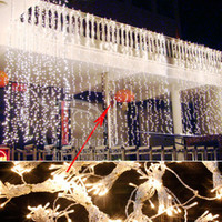 8*4m Christmas LED Curtain String Lights lamps New Year Decoration Garland Chandelier Wedding garden luminaria outdoor lighting