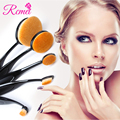 Pro Eyeliner Eyeshadow Soft Brushing 5pcs Tooth Brush Shape Oval For Eyes Cosmetics Kit Tools