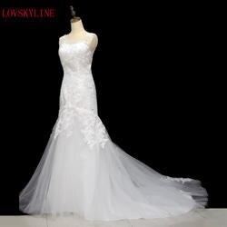 2018 дешевые Кружево Русалка свадебное платье плюс Размеры свадебные туфли в африканском стиле Свадебное платье Vestido De Noiva Renda