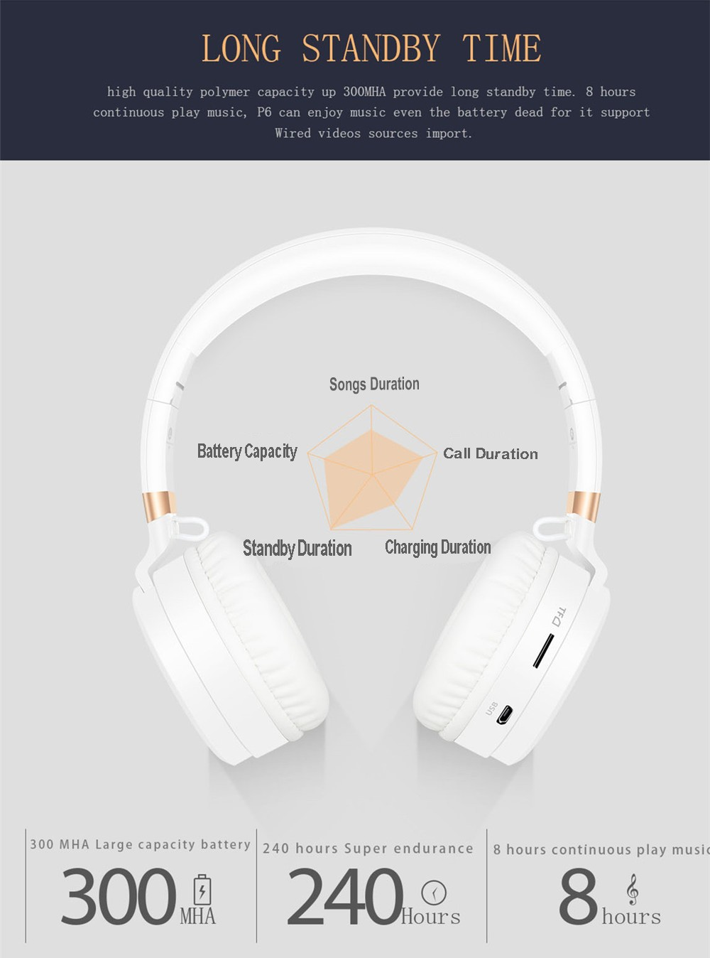 Sound Intone P6 S Bluetooth Headsets Stereo wireless Headphones With MIC Support FM Radio TF Card Earphone For iPhone Xiaomi PC 12