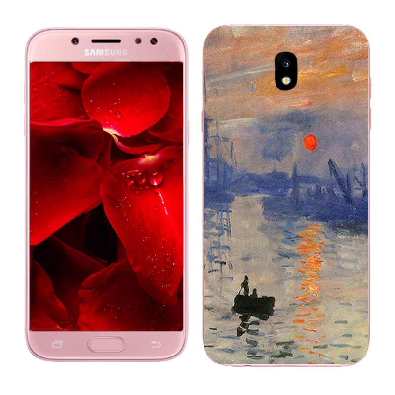 For Samsung Galaxy J7 2017 Case Soft Silicon TPU Oil Painted Phone Back Cover For J730F J730 EU Eurasian Version Capa