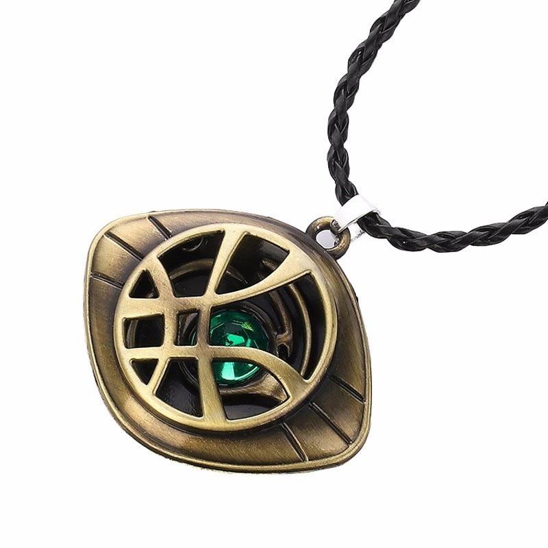 Avengers Doctor Strange Cosplay Infinity Time Stones Pendant Necklace Superhero Eye Agamotto Necklace Accessory Halloween Gifts