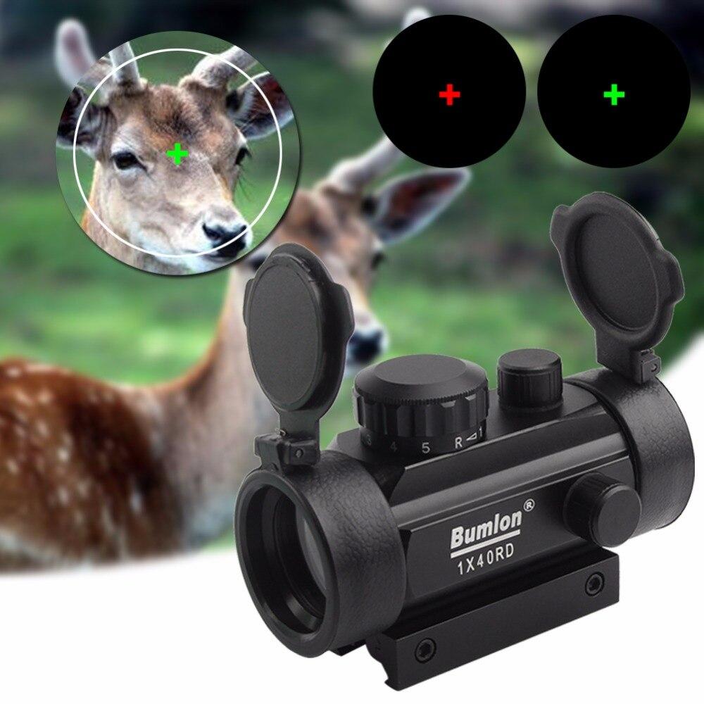 Tactical Holographic 1x40mm Red Green Dot Sight Airsoft Cross Hari Reflex Aiming Device Scope 11 20mm Rail Mount RL5-0024BL цена