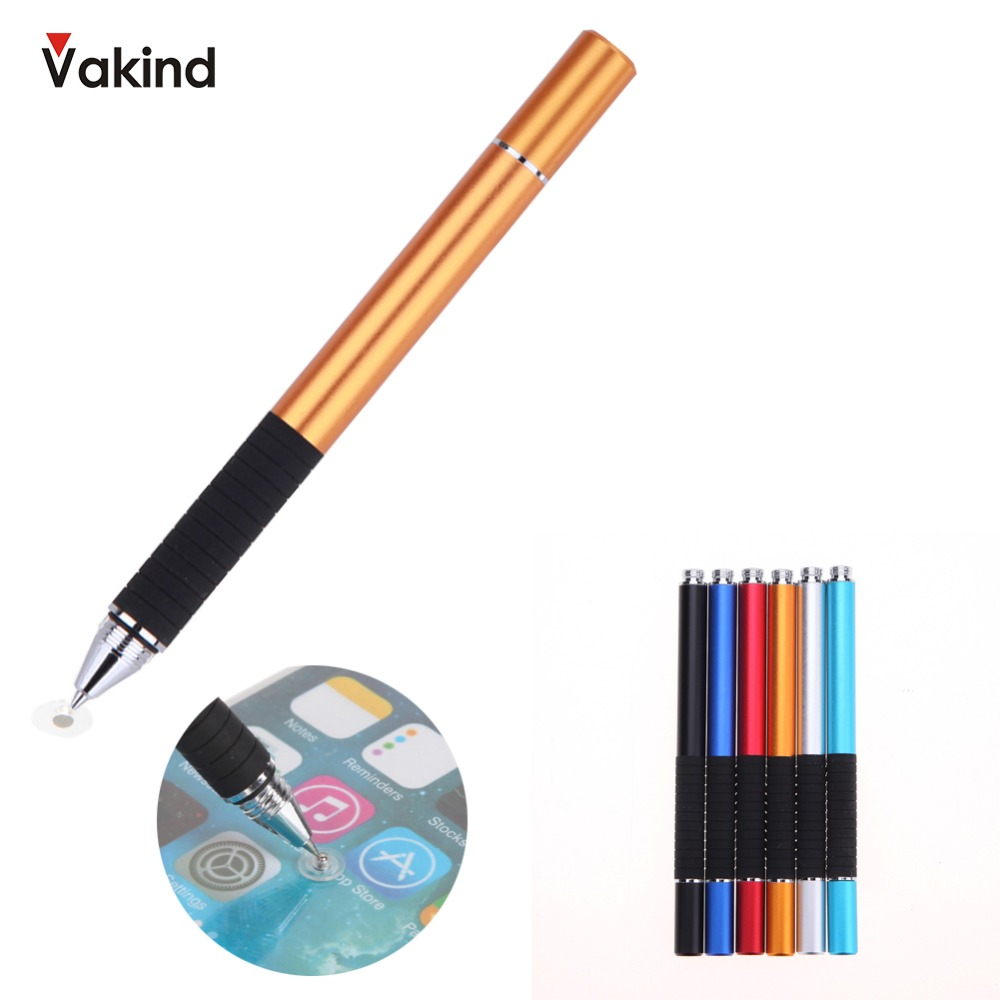 Capacitive Pen Pen Touch Screen Drawing Pen Stylus for iPhone for iPad for Smart Phone Tablet Black Silver Red Blue Dropshipping capacitive pen touch screen drawing pen stylus with conductive touch sucker microfiber touch head for tablet pc smart phone