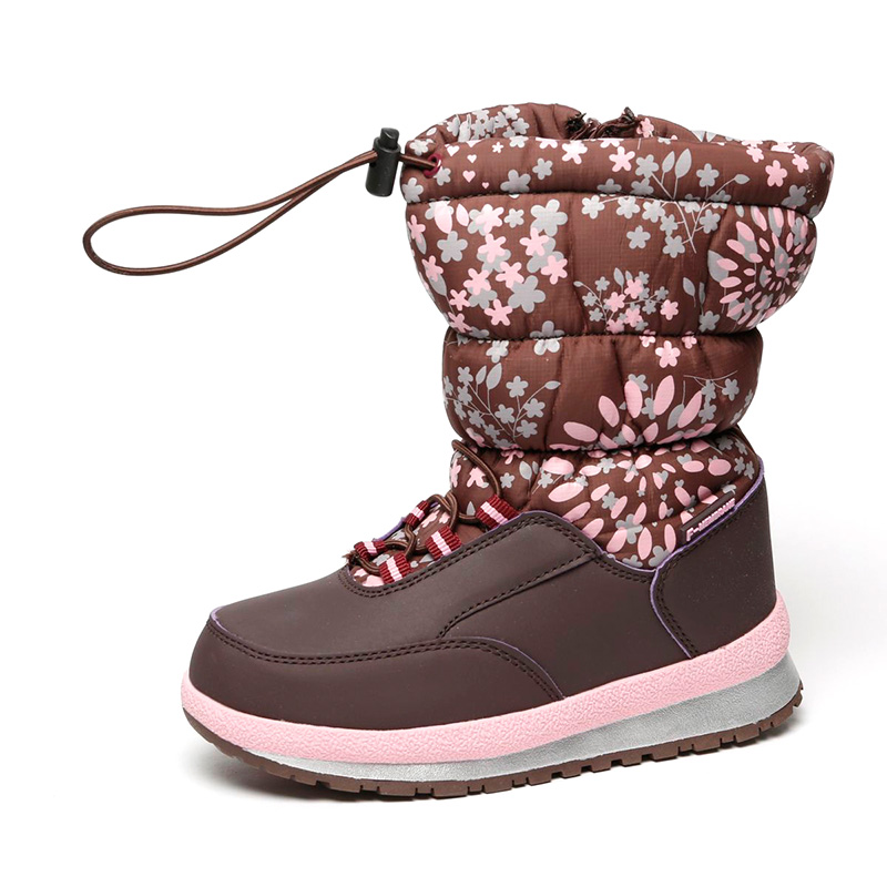 FLAMINGO Waterproof Wool Keep Warm Winter High Quality Shoes Anti-slip Size 25-30 Children Snow Boots for Girl 72M-YC-0433 2017 winter new arrivals cheap price high quality black suede leather gold studded over the knee boots women boots size 35 42