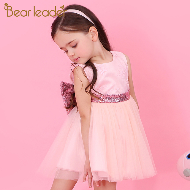 Bear Leader Girls Dresses 2018 New Brand Princess Girl Clothes Ball Gown Sleeveless Party Dress Girls Clothes For 1-6 Years