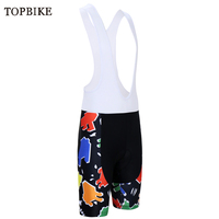 TOPBIKE Pro Cycling Bib Shorts With 3D Padded Coolmax Gel Quick Dry Culotes Ciclismo Mountain Bicycle