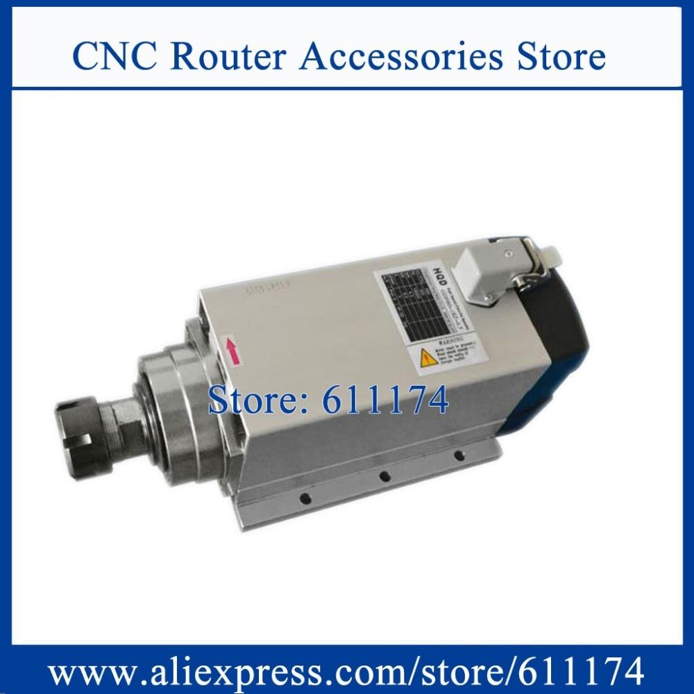 CNC Spindle Motor 1.5KW ER20 Air Cooled Spindle Motor AC220V 18000RPM Flange Wood Spindle Motor