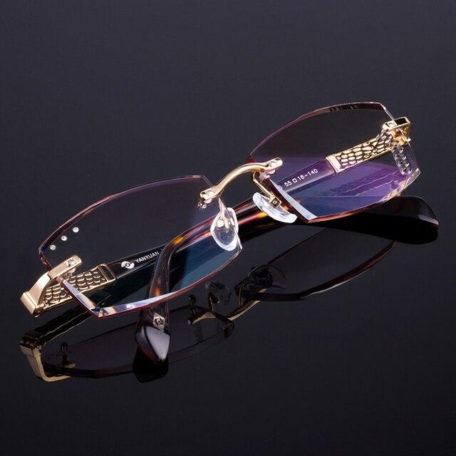 Eyewell Optical Z5825 High Quality Diamond Edge Cutting Rimless Reading Eyeglasses