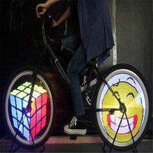 Check Price Bicycle Light 128 IPX6 Waterproof Bike Lights DIY Programmable Double Sided Screen Display Image Bike LED Wheel Spoke Light