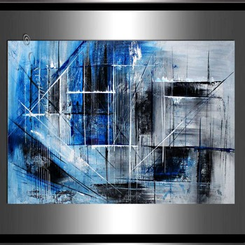 Handmade high quality thick knife abstract oil painting Blue Textured Wall abstract on Canvas Painting Decor Oil Painting art