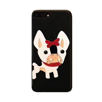 2017 Fashion Cartoon Sexy France Bulldog Bow Scarf Dog Acrylic All Inclusive Cell Phones Case For