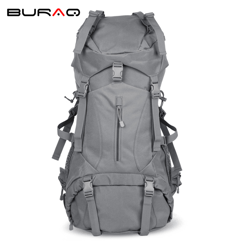 Professional Internal Frame 60l Waterproof Outdoor Hiking Backpack Climbing Trekking Camping Mountain Travel Bags Pack Knapsack multifunctional professional handle pulley roller gear outdoor rock climbing tyrolean traverse crossing weight carriage fit