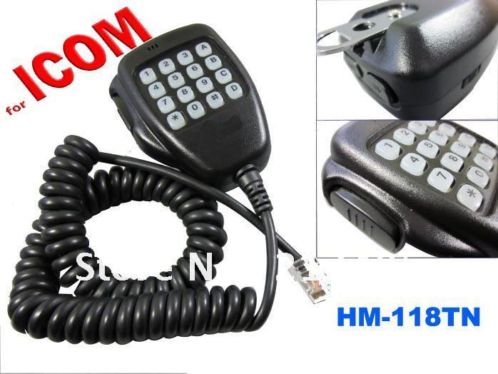 Free Shipping Remote Control DTMF Microphone HM-118TN For Icom Mobile Transceiver IC-2200H IC-V8000 IC-E208 IC-2100H Etc