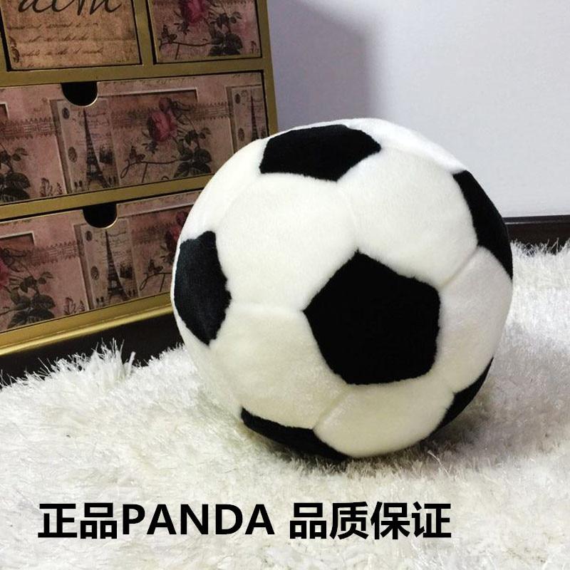 2016 100% High quality Plush toy football plush football ball plush ball pillow Stuffed Toys only 20cm children table football game ball machine toys