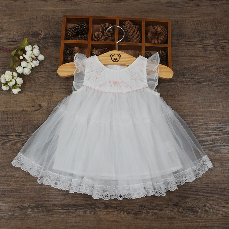 Wholesale 5pcs/lot Baby Girls Clothing Puff Sleeve Princess Style Dress Party Wedding Birthday Dress for Girls Ball Gown 0-2T puff sleeve peplum top