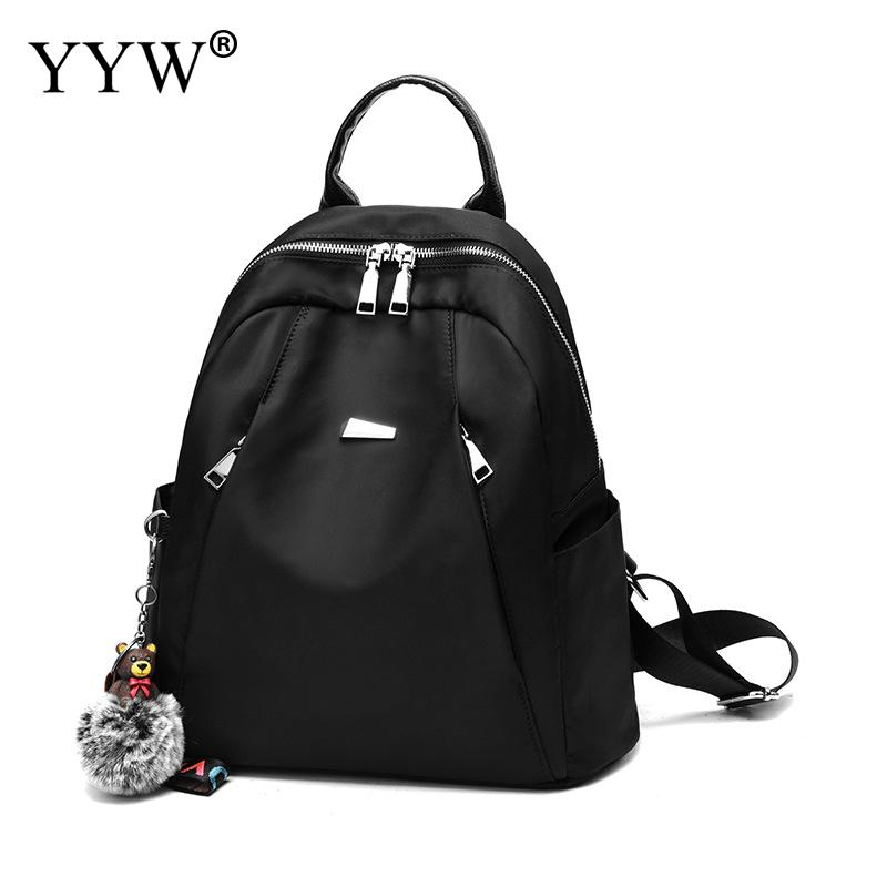 New Oxford Black Waterproof Travel Backpack Zipper School Bags Teenager Girl Soft Handle Backpacks Large Trendy Mochila Feminina