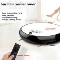 110 240V Remote Control Random Cleaning Vacuum Cleaner Robot With Wet Mopping LCD Touch