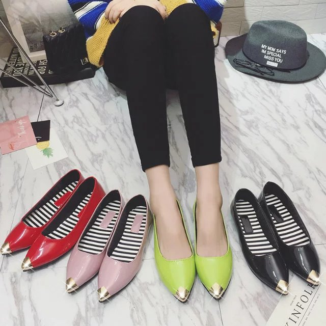 Spring Autumn Fashion Women Shoes Pointed Toe Slip-On Flat Shoes Woman Comfortable Single Casual Flats Size 35-40 zapatos mujer women flats slip on casual shoes 2017 summer fashion new comfortable flock pointed toe flat shoes woman work loafers plus size