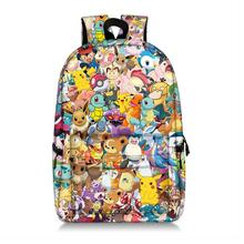 Pokemon Pikachu mario smash bros torby szkolne dla teeenager chłopcy dziewczęta plecak szkolny uczeń torba na książki plecak dla kobiet tanie tanio Poliester Cartoon zipper Unisex polyester K013 0 52 KKABBYII hidden zipper pocket Soft handle backpack