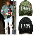 new 2015 military outerwear jacket KANYE WEST YEEZUS tour MA1 jackets limit parkas MERCH BOMBER MA-1 NAVY RED CROSS jacket