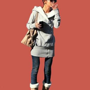 Túnica cálida sudadera de invierno Poleron Mujer 2019 Diagonal cremallera Sudadera con capucha estilo coreano ropa con capucha bolsillo cremallera sudaderas con capucha de las mujeres