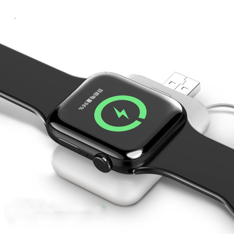 Battery <font><b>Power</b></font> <font><b>Bank</b></font> for Apple Watch iWatch <font><b>1000mAH</b></font> Micro USB 5V 1A Mini Charger Base Magnetic Wireless Charger for iWatch 1 2 3 4 image