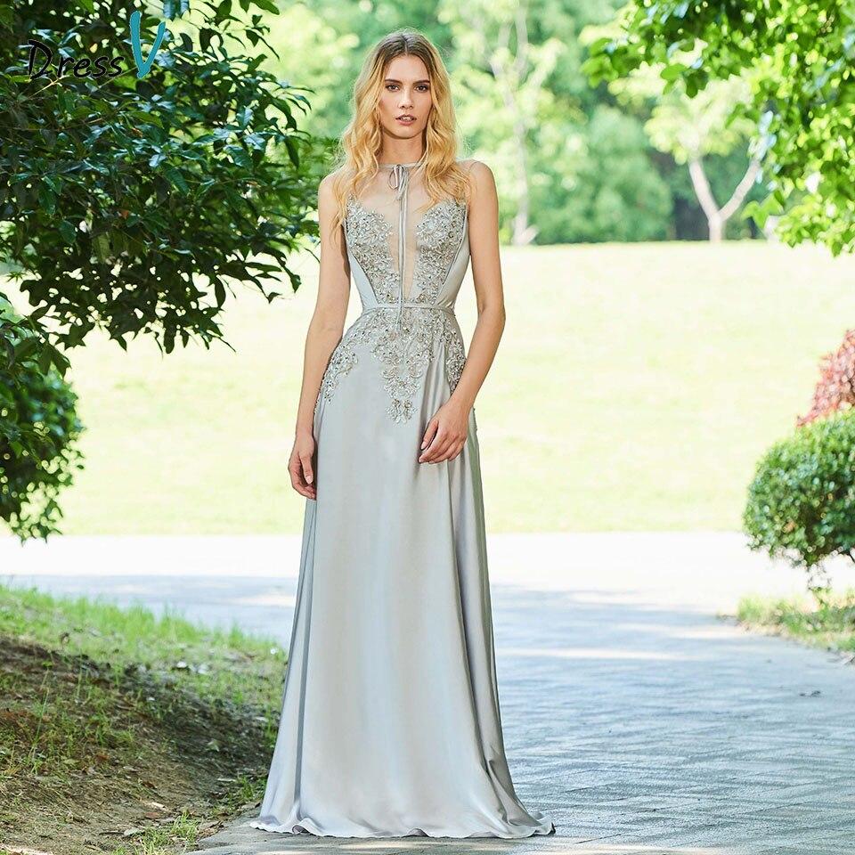 Dressv Sample Evening Dress Scoop Neck A Line Beading Button Appliques Sleeveless Wedding Party Formal Dress Evening Dresses