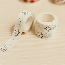 1X 1.5cmx5m kawaii Gold wishing Tree Decorative Washi Tape DIY Scrapbooking Masking Tape School Office Supply Escolar Papelaria 2j202 1 5cm wide the puzzle world decorative washi tape diy scrapbooking masking tape school office supply escolar papelaria