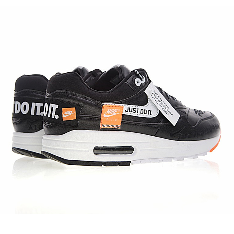 Nike Just do it Nike Just Do It Air Max 1 Men's Running Shoes, Black and White Orange,  Shock Absorption Skid Abrasion Resistant 917691 002-in Running Shoes from  Sports ...