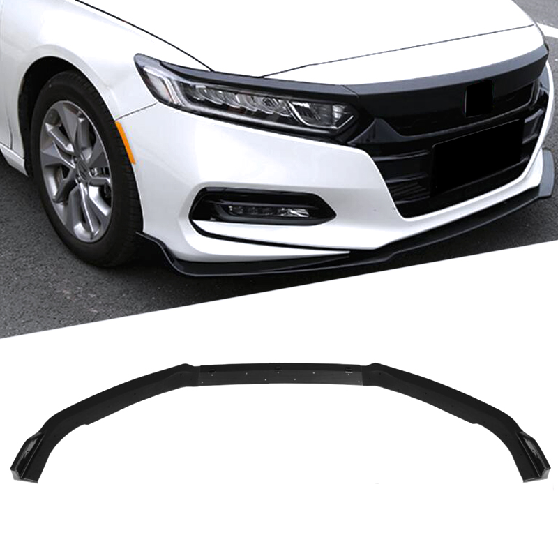 Carbon Fiber Style ABS Front Bumper Lip Protection Cover Trim Front Skirt 3pcs Fit for Honda Accord Sedan 10th 2018 Car Exterior