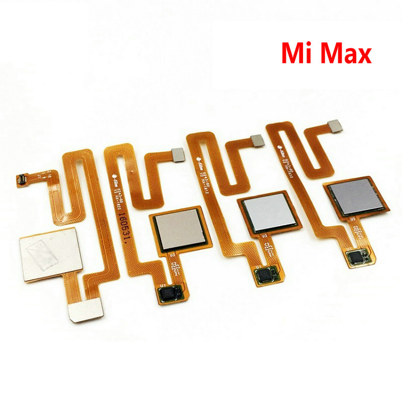 New Home Button Touch ID Sensor Key For Xiaomi Max / Max 2  Replacement Parts FingerPrint Button Flex Cable