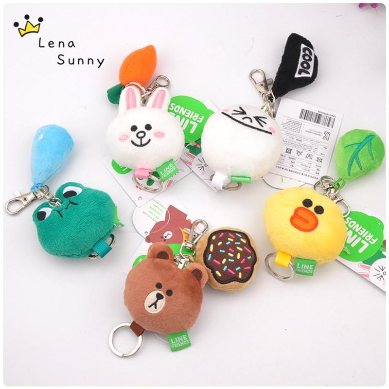 Stuffed & Plush Animals Logical 20pcs/lot 5 Styles Korea Hot Kawaii Cony Rabbit Brown Bear Duck Small Keychain Plush Toy,grabbing Doll Mobile Pendant Toy Pure Whiteness