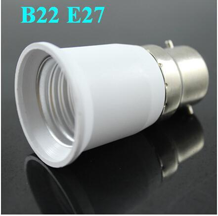 LED Halogen CFL Light Lamp Adapter B22 to E27 Bayonet Socket to Edison Fitting Globe X20