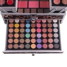 Professional Makeup Kit for Women Three Layers Eyeshadow Powder Blush Lipstick Set Cosmetics Set Face Eye Makeup